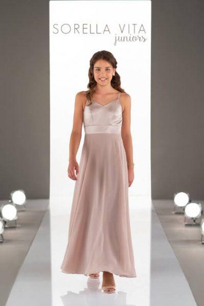 Jr Bridesmaid Dress - J4022_vintage rose