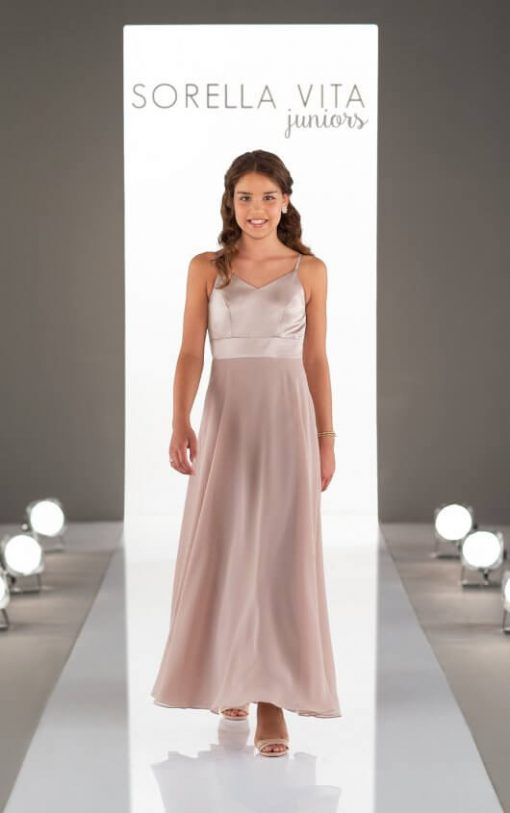 Jr Bridesmaid Dress - J4022_vintage rose